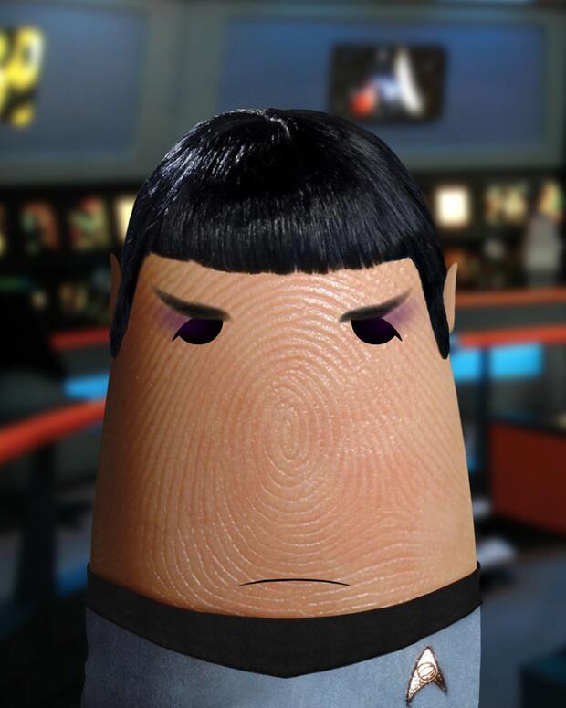 Bild zu Daumen als Mr. Spock