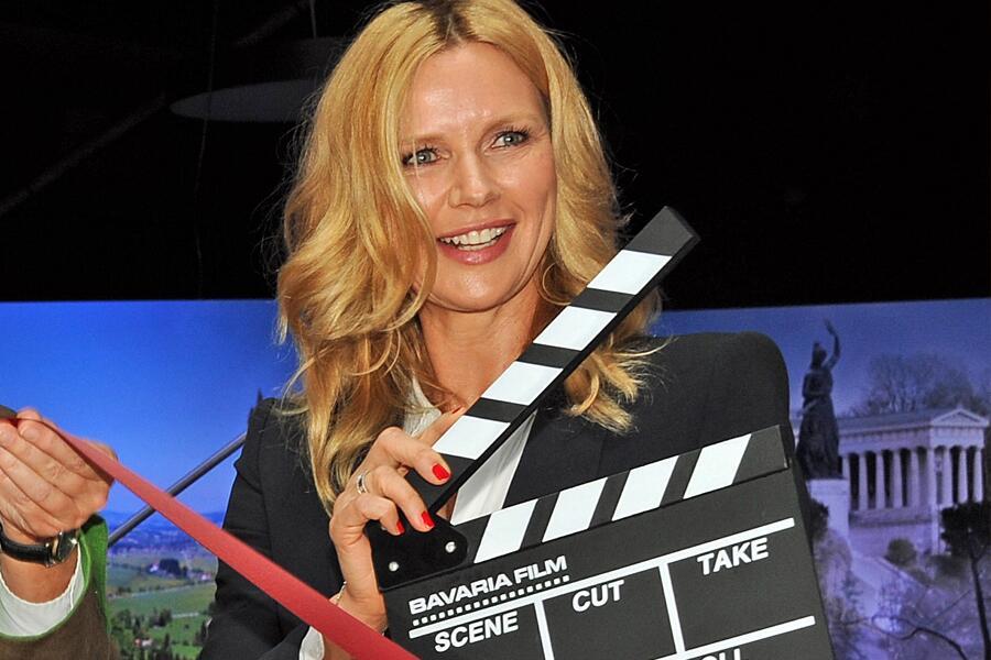 """Bild zu Veronica Ferres zeigt sich voller Freude bei der """"Filmkulisse Bayern"""""""