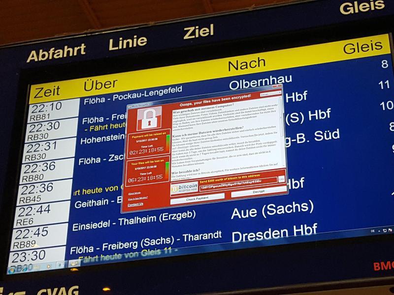 Bild zu DB-Anzeige in Chemnitz