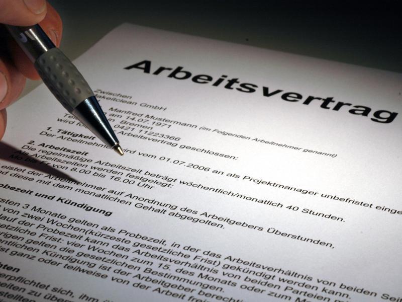 Bild zu Arbeitsvertrag