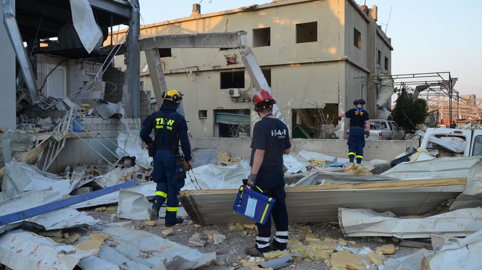 Nach der schweren Explosion in Beirut - THW