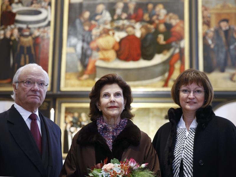 Bild zu Schwedisches Königspaar in Wittenberg