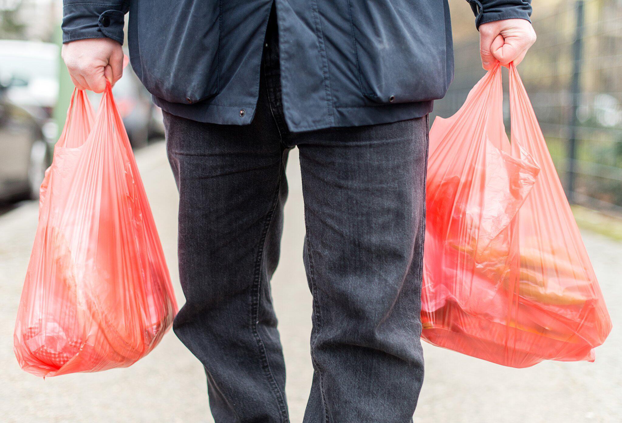 Bild zu Einkäufe in Plastiktüten