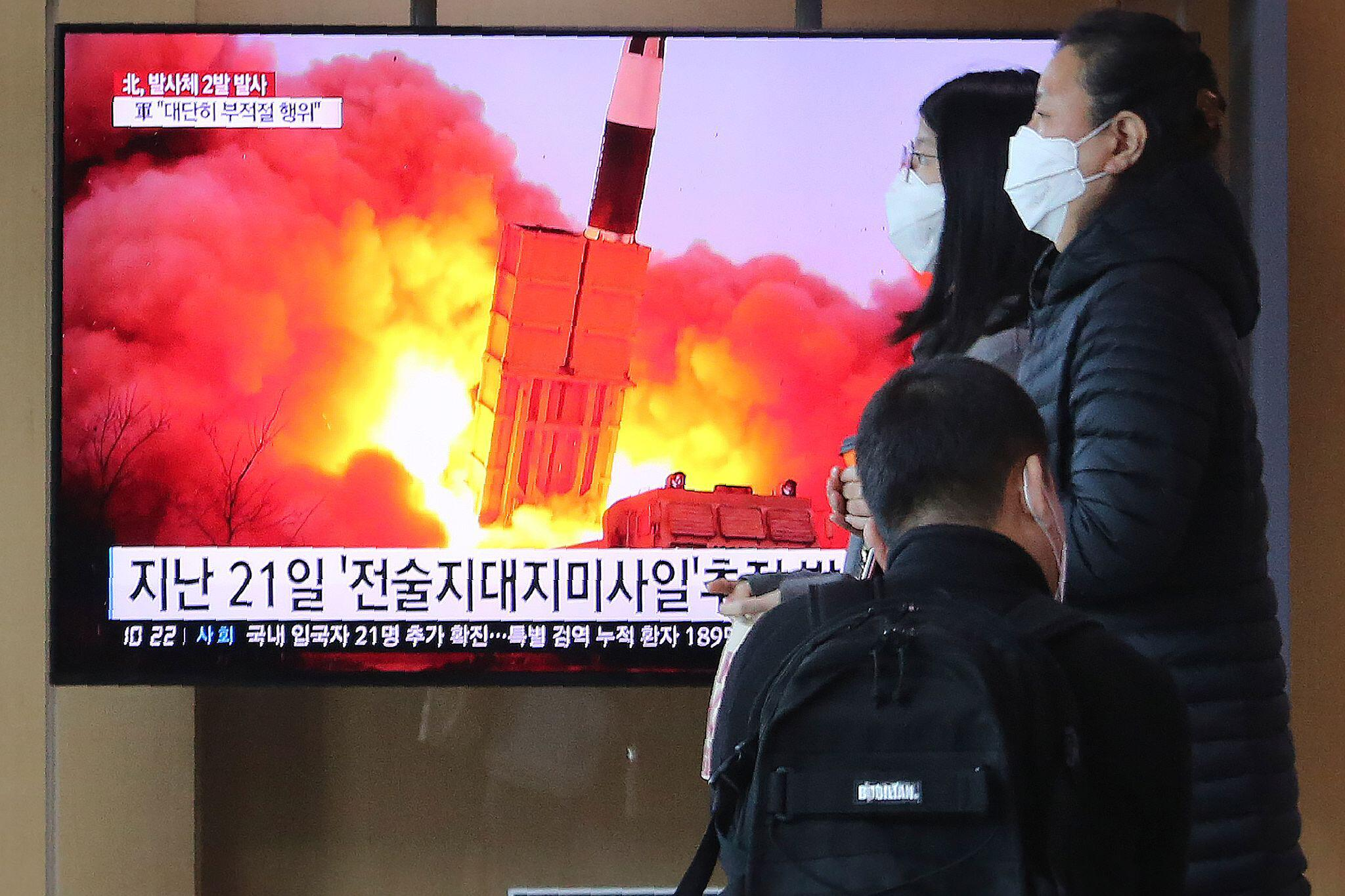 Bild zu Raketentest in Nordkorea