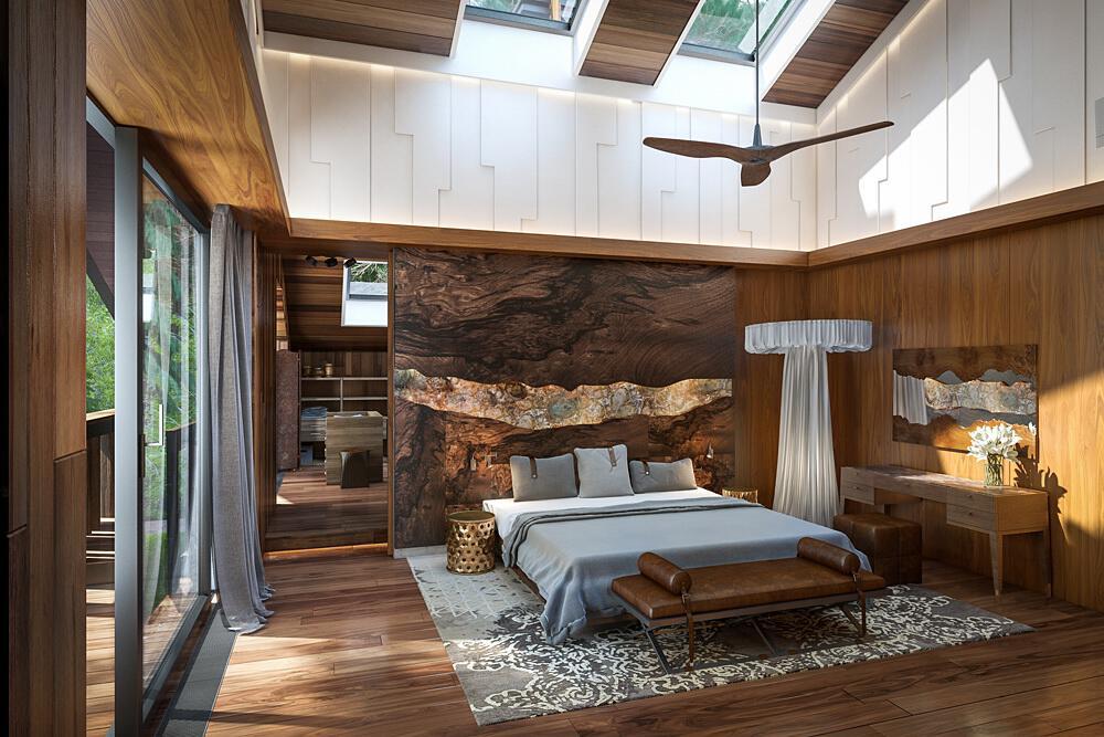 luxuri ses wohnhaus im wald