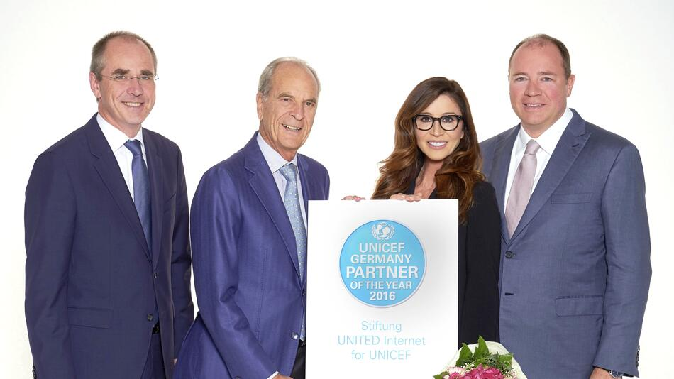 United Internet for UNICEF, UNICEF, UNICEF Germany Partner of the Year 2016