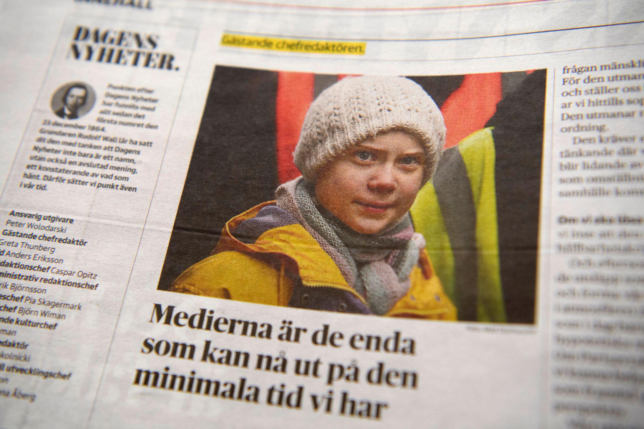 Bild zu Aktivistin Thunberg als Chefredakteurin