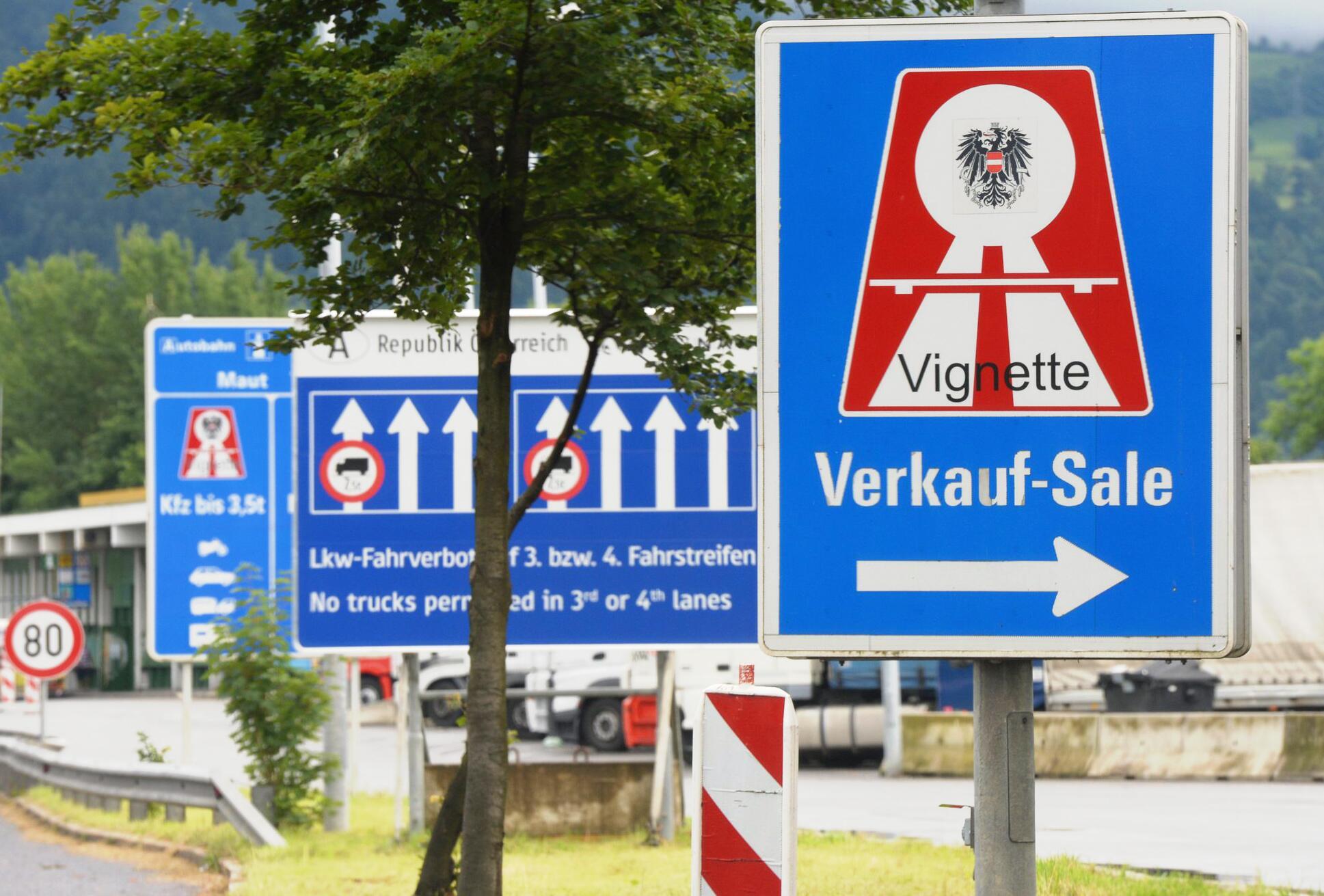Bild zu Keine Vignette in Österreich auf fünf grenznahen Autobahnstrecken