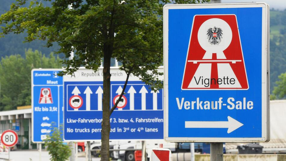 Keine Vignette in Österreich auf fünf grenznahen Autobahnstrecken