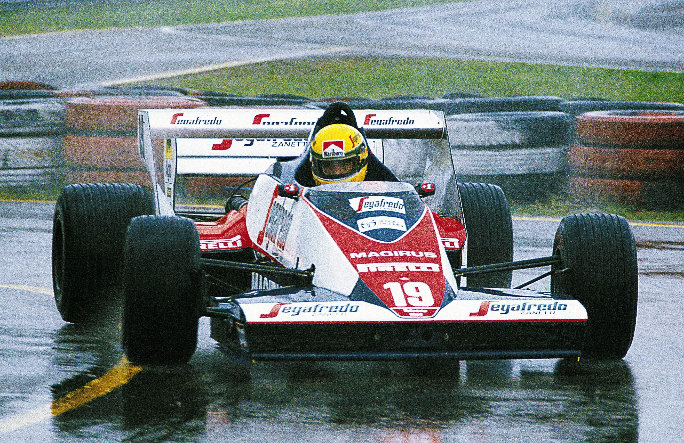 Bild zu Ayrton Senna, Toleman, Hart, Toleman-Hart, Formel 1, Regen
