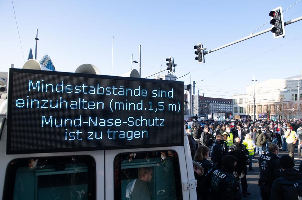 Demonstration «Querdenken» in Leipzig
