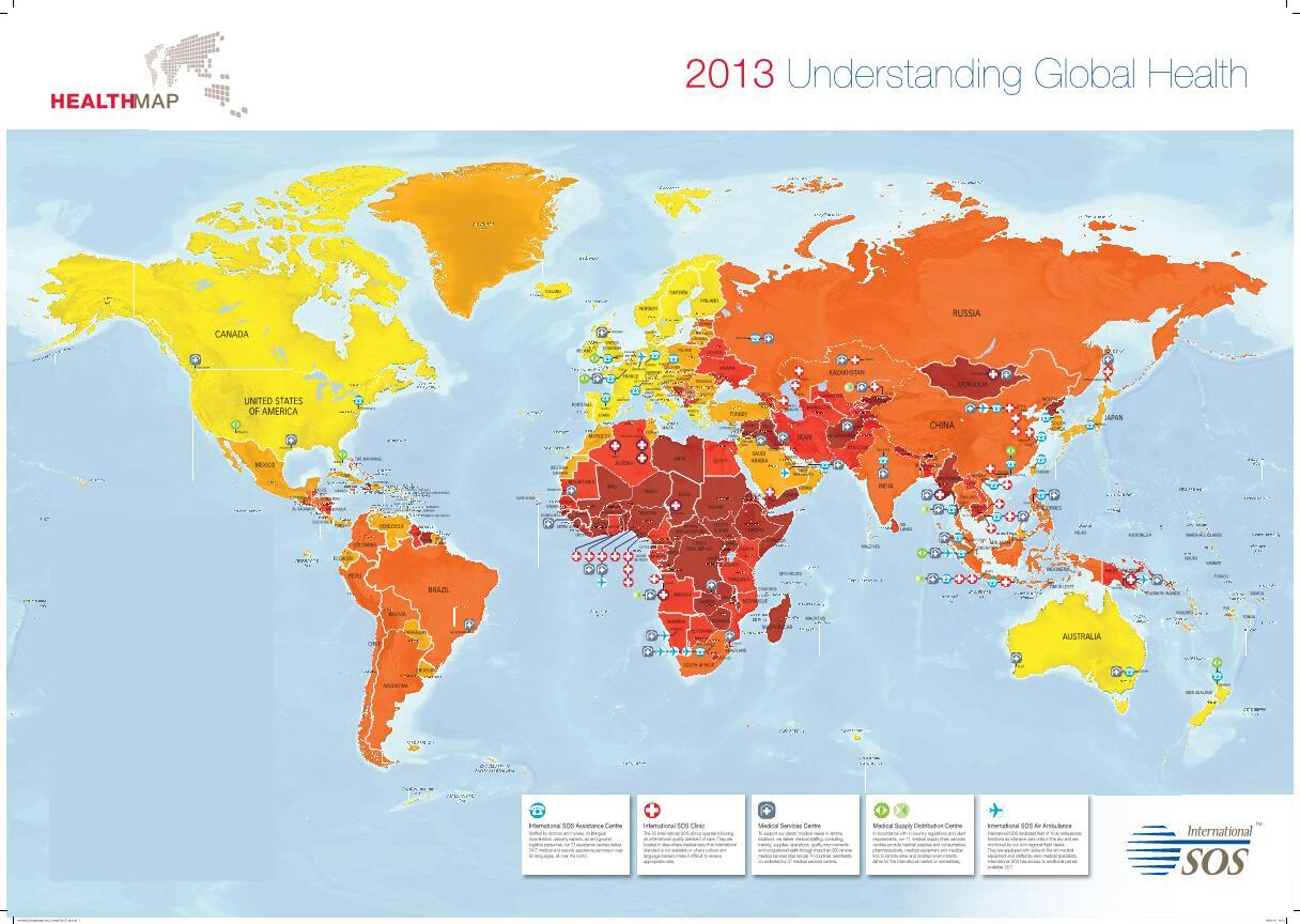 """Bild zu Healthmap 2013 von """"International SOS"""""""