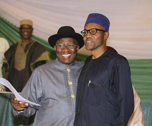 Buhari und Jonathan