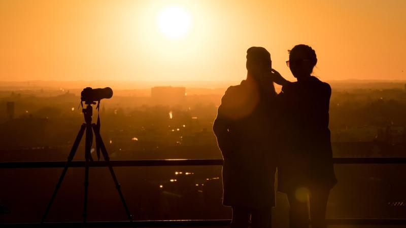 Fotografieren bei Sonnenuntergang