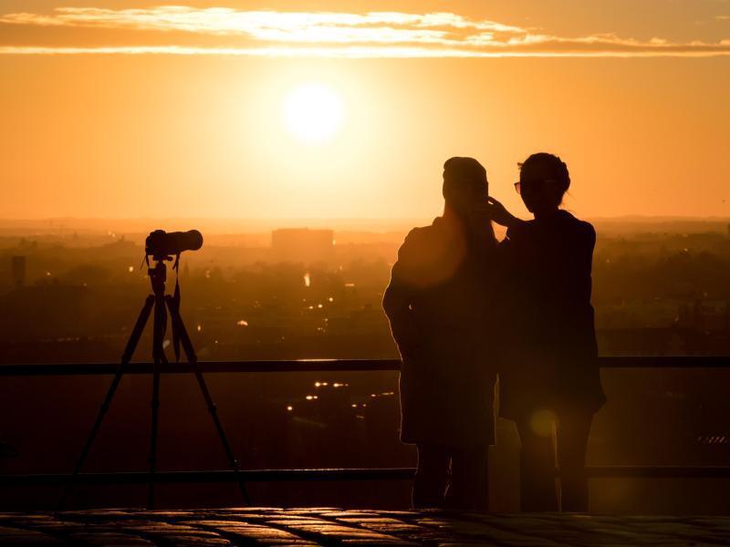 Bild zu Fotografieren bei Sonnenuntergang