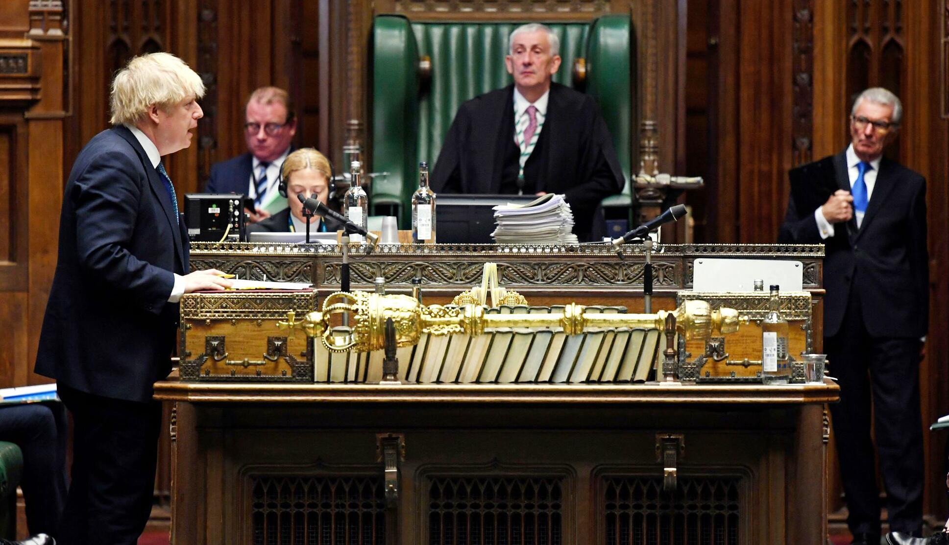 Bild zu Coronavirus - «Prime Ministers Questions» in Großbritannien