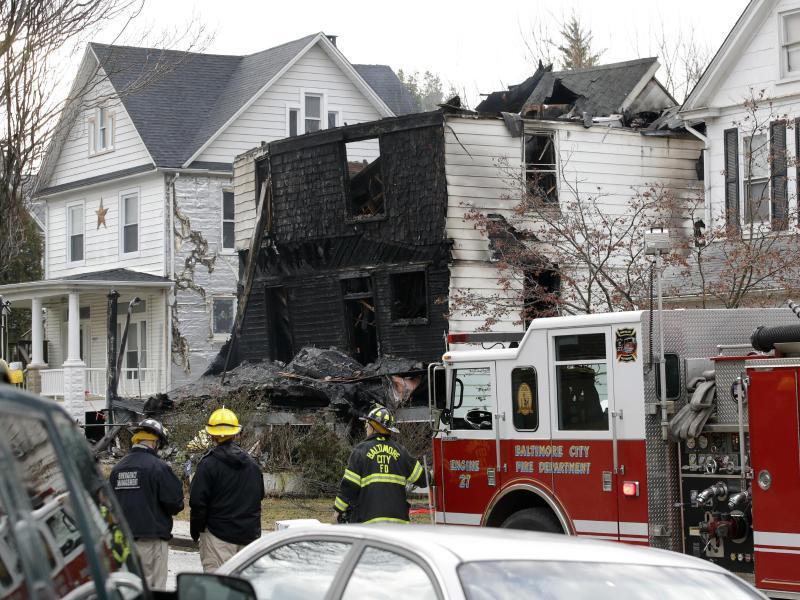 Bild zu Hausbrand in Baltimore