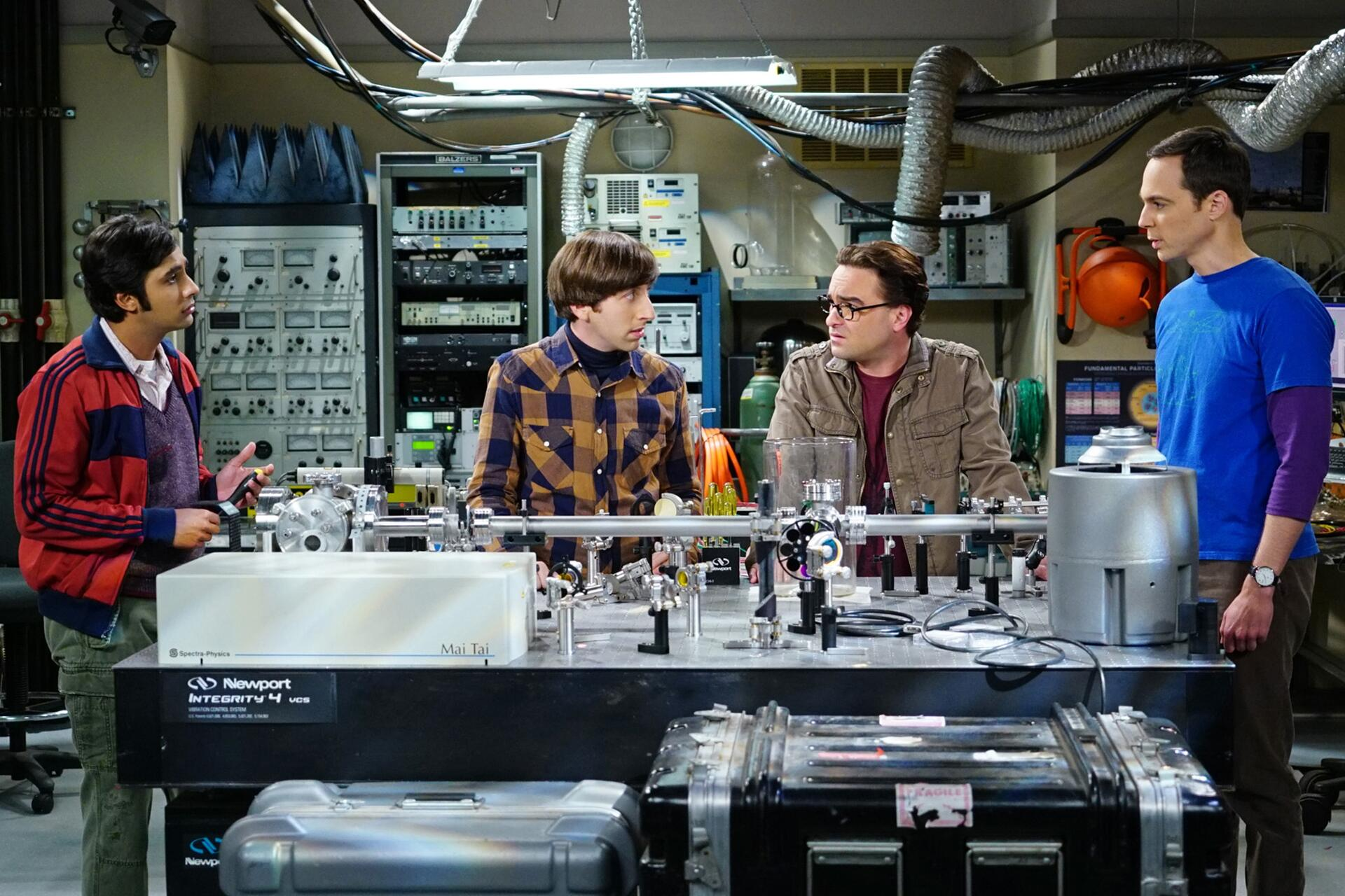 Bild zu Kunal Nayyar, Simon Helberg, Johnny Galecki, Jim Parsons, The Big Bang Theory