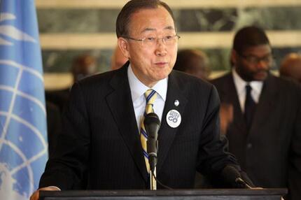 Ban Ki Moon in Liberia