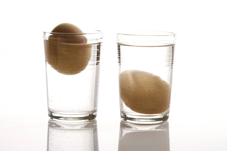 Bild zu Ei noch essbar Wasserglas Test