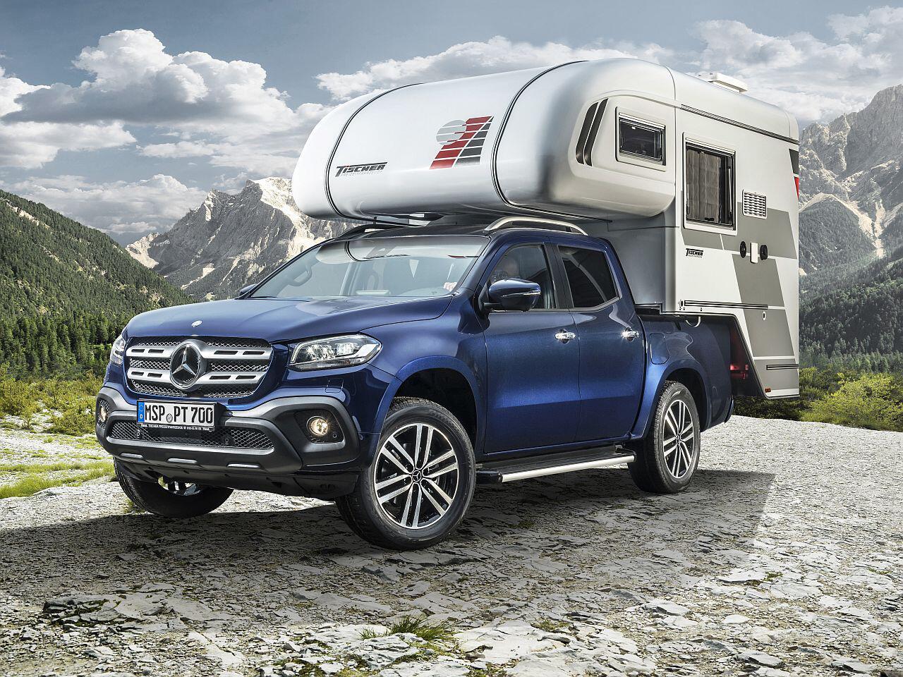camping pickup mercedes benz pr sentiert. Black Bedroom Furniture Sets. Home Design Ideas