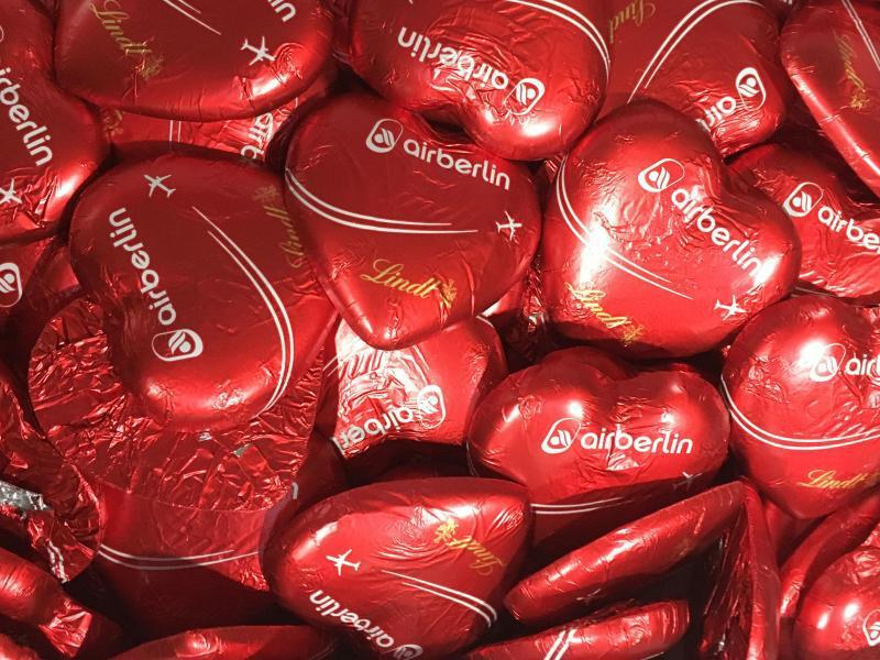 Bild zu Air-Berlin-Schokoladenherzen