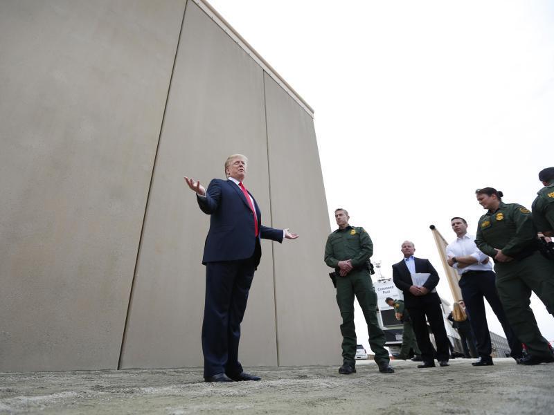 Bild zu Prototyp der Grenzmauer