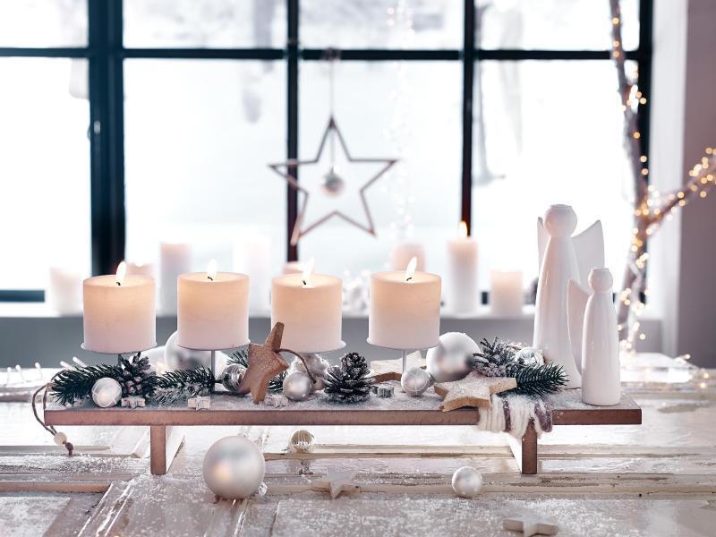 weihnachten wird sicher weiß: deko-trends fürs fest | web.de - Deko Trends 2014 Wohnzimmer