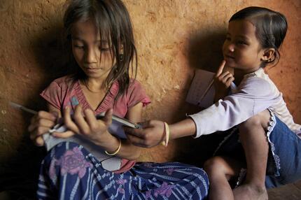 Mädchen Nepal