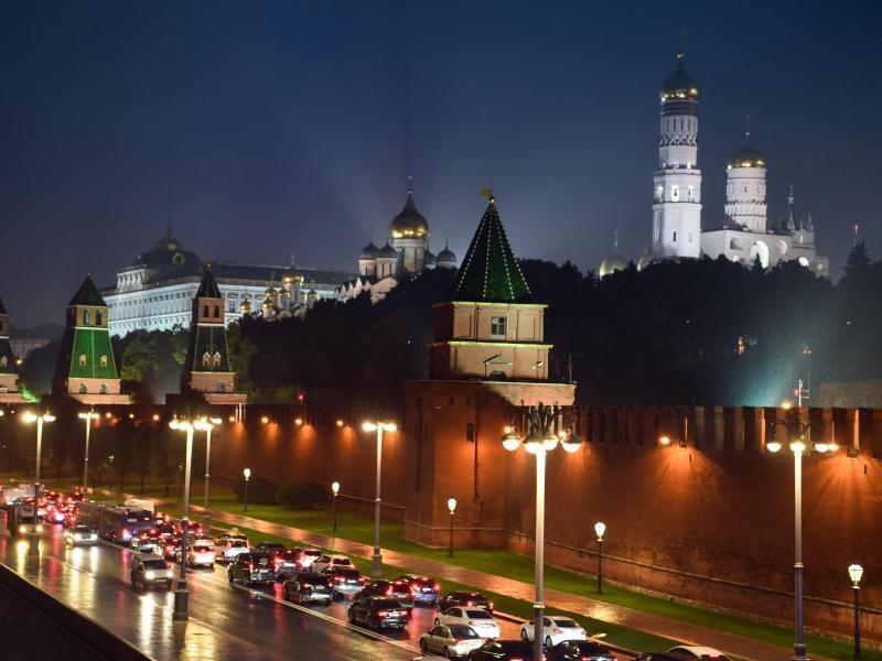 Bild zu Moskau bei Nacht