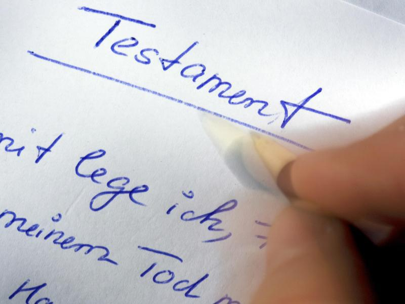 Bild zu Schreiben eines Testaments