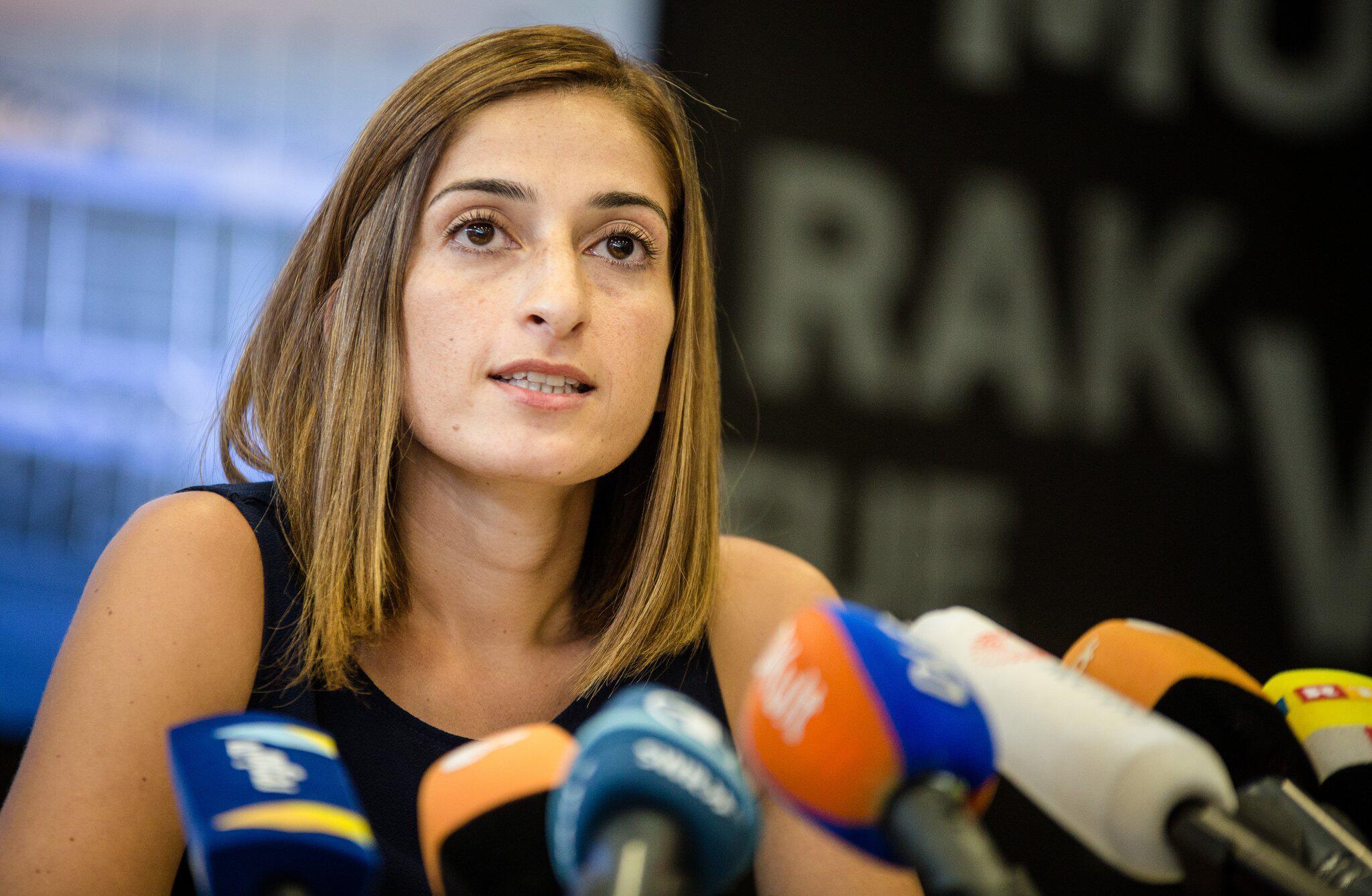 Bild zu Mesale Tolu wieder in Deutschland - Pressekonferenz