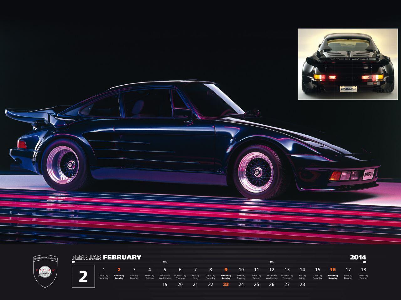 Bild zu Ganz im Zeichen des Porsche 911: Der Kalender ist auf 911 Exemplare limitiert