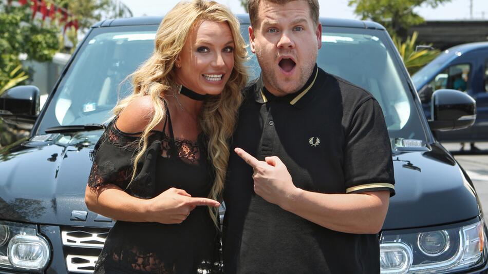 Britney Spears, James Corden, Carpool Karaoke, Playback