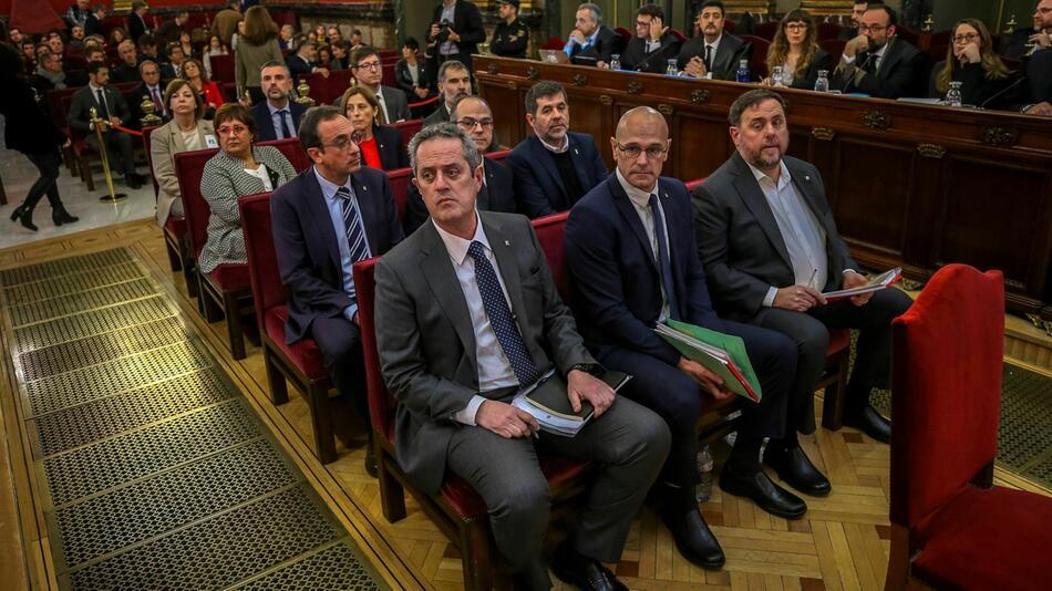 Prozess gegen katalanische Separatistenführer