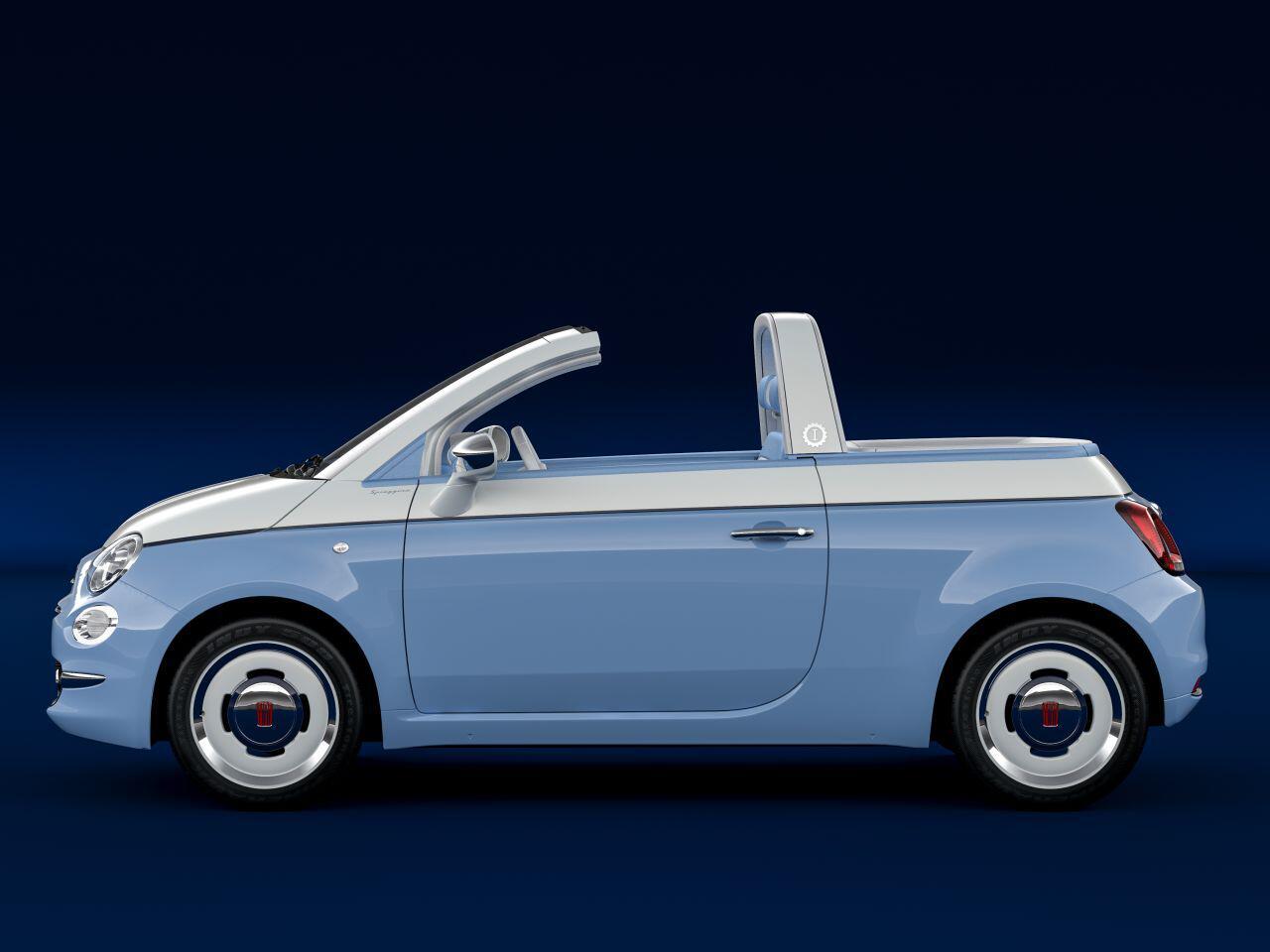 Fiat 500 jubil um sondermodell fiat 500 spiaggina 39 58 und for Garage fiat marignane