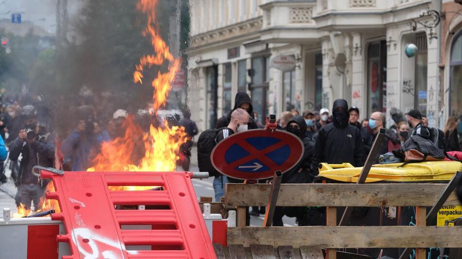 Ausschreitungen bei Leipziger Demonstration