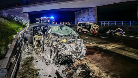 Geisterfahrer-Crash auf A8