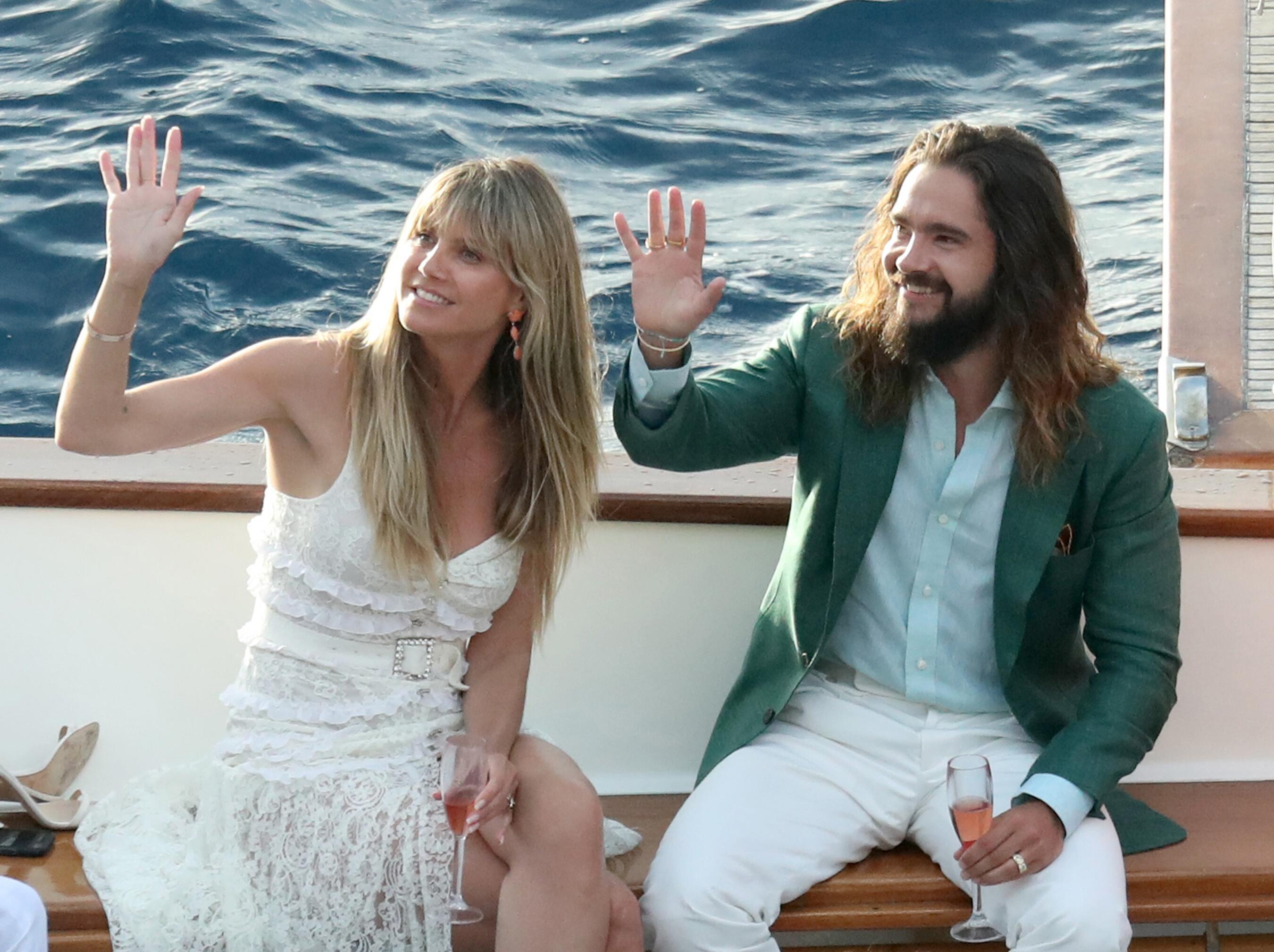 Bild zu Heidi Klum und Tom Kaulitz im Liebesurlaub auf Capri