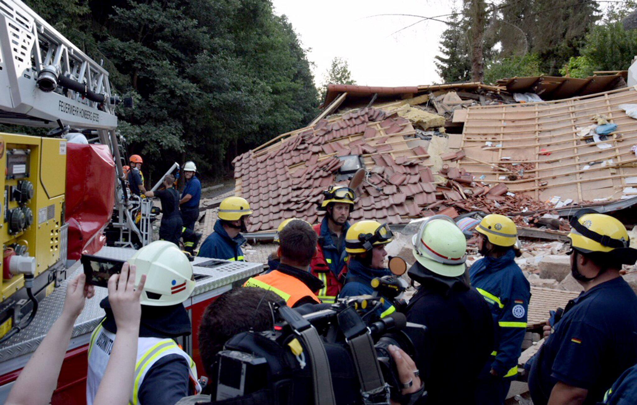 Bild zu Gasexplosion in Wohnhaus in Knüllwald