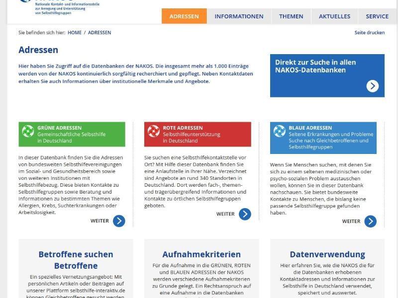 Bild zu www.nakos.de