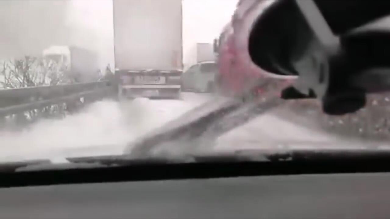 Bild zu Tschechien: Massenkarambolage auf verschneiter Autobahn