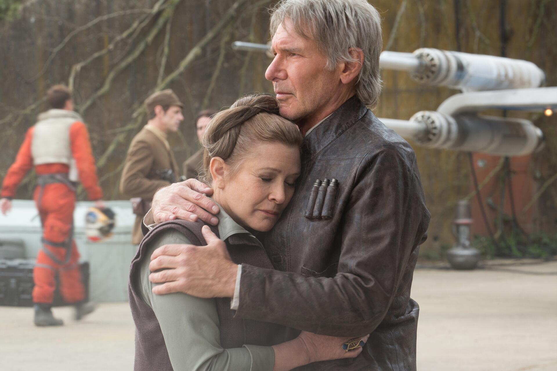 Bild zu Harrison Ford, trauert, Carrie Fisher