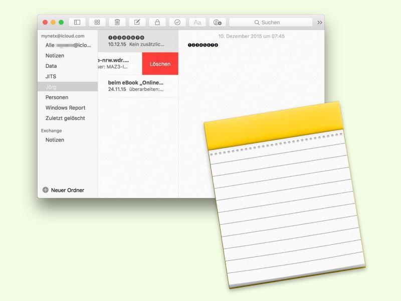 Bild zu Notizen-App