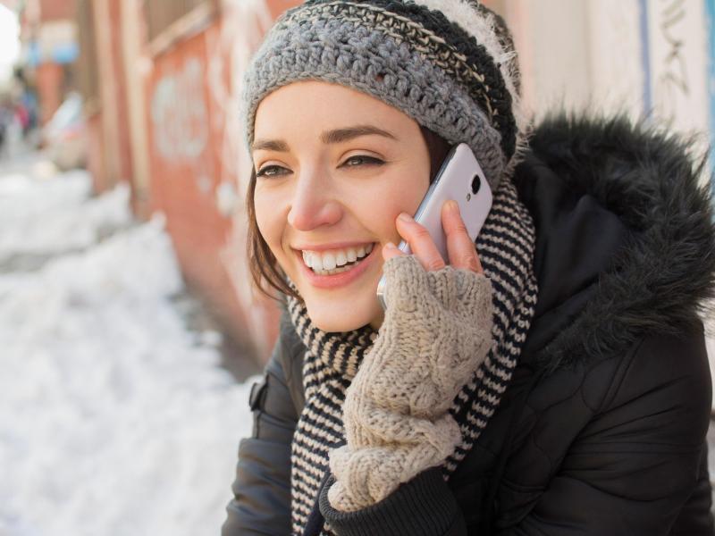 Bild zu Telefonieren bei Kälte