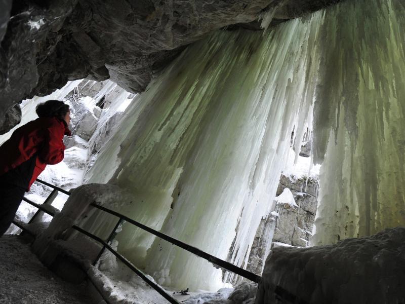 Bild zu Eisvorhang in der Breitachklamm