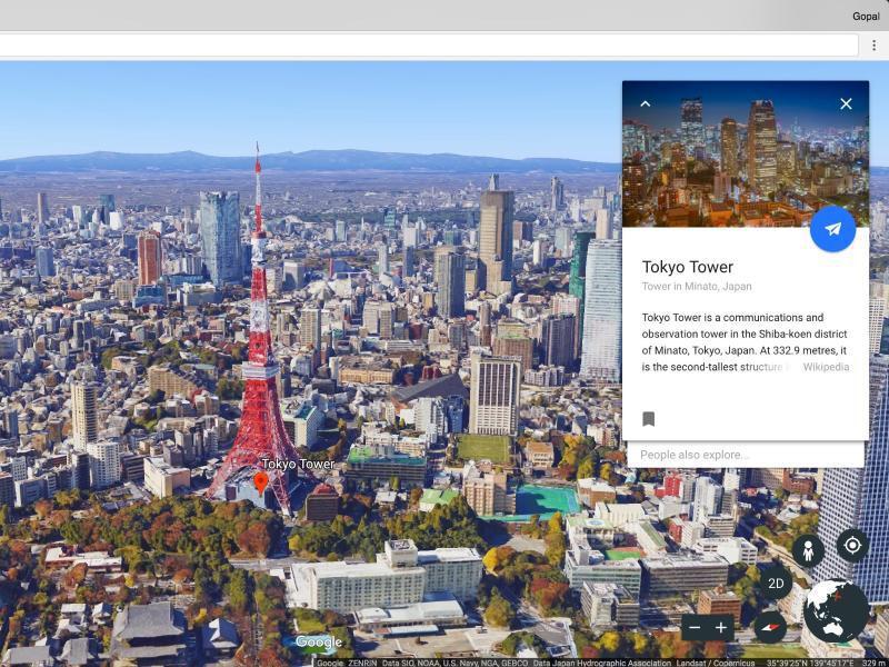 Bild zu Wissenskarten in Google Earth