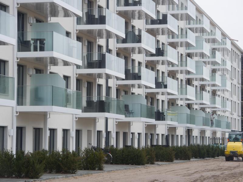 Bild zu Blick auf Ferienwohnungen im Block 2