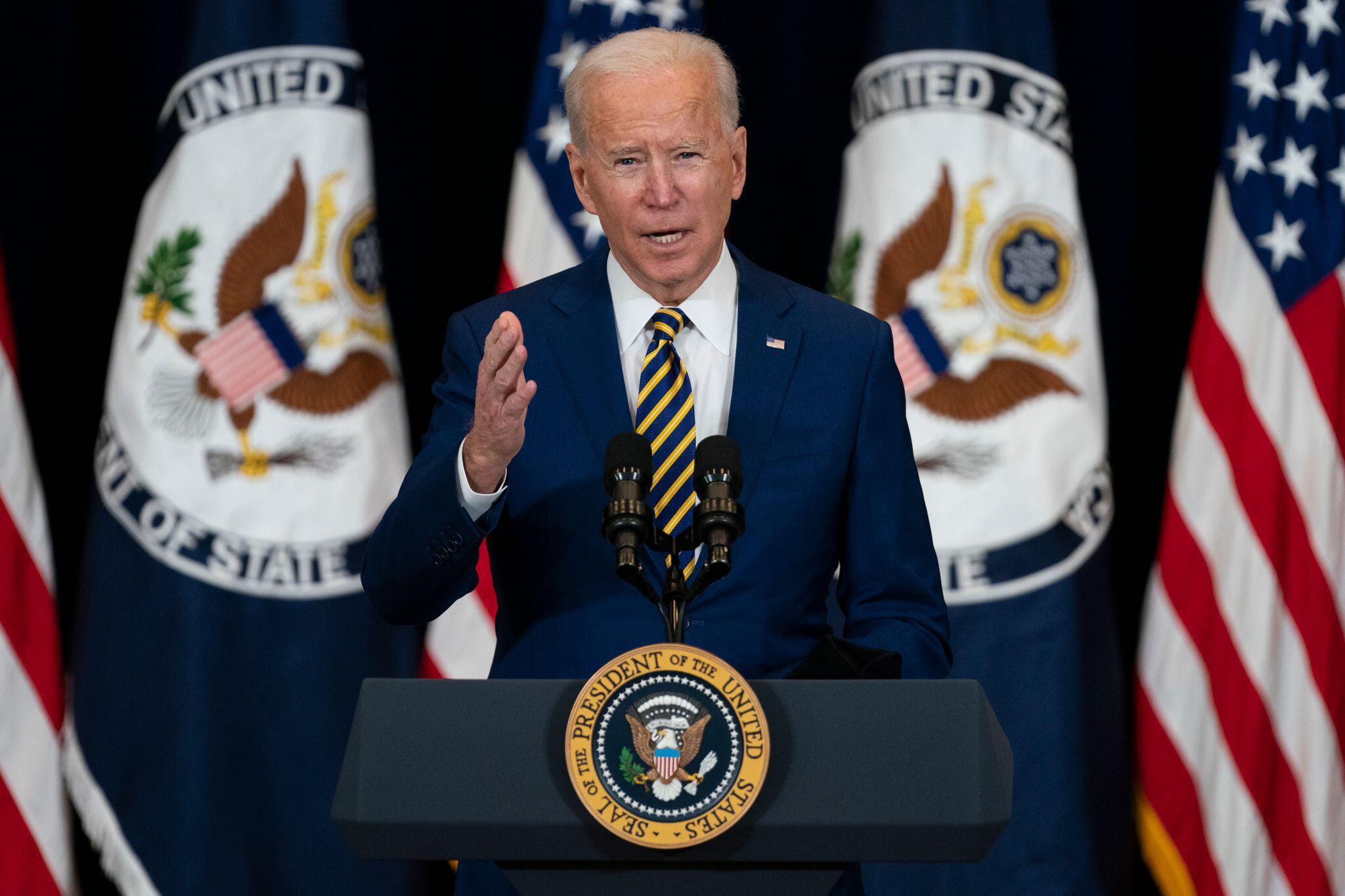 Bild zu Rede von US-Präsident Biden im US-Außenministerium