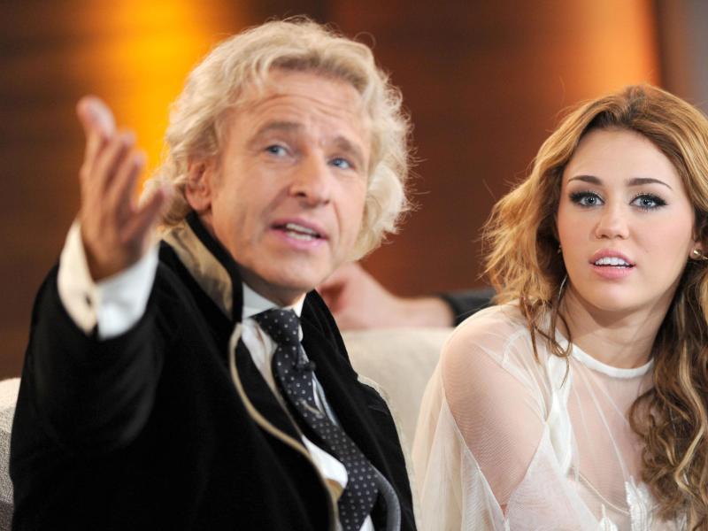 Bild zu Thomas Gottschalk und Miley Cyrus